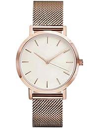 Sannysis Reloj de pulsera banda de Acero inoxidable (Oro Rosa)