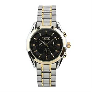 6 mains mécaniques automatiques inoxydable S. White Men Dial montre-bracelet , Blanc