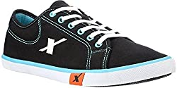 Sparx Mens Black and Sky Blue Casual Shoes (SM-283) (7 UK)