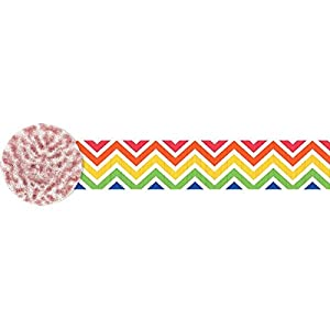 Amscan International - 180162 4.4 cm X 24 m arco iris Chevron Crepe Streamer