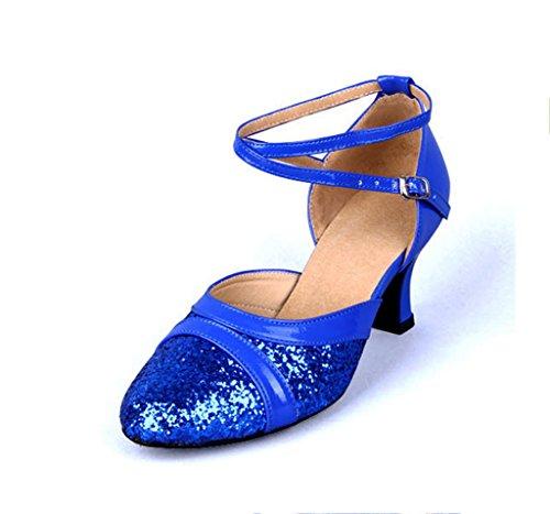 Meijili, Scarpe da ballo donna Blue