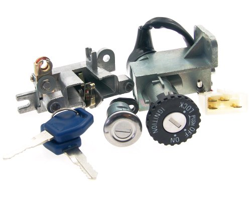Serrure d'allumage Set cadenas et clés Serrure - Kymco Agility 125 4T (06-08)