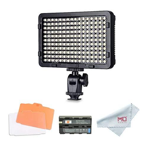 Tolifo PT-176S Videoleuchte LED Dimmbare Videolicht Videolampen 176PCS Kamera Licht 3200K-5600K Fotografie LED-Beleuchtung für Canon Nikon Sony Panasonic DSLR Digitalkamera Camcorder mit F550 Akku