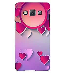 Citydreamz Pink & White Hearts/Love/Valentine Hard Polycarbonate Designer Back Case Cover For Samsung Galaxy J3