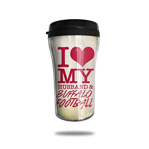 I Love My Husband Buffalo Football 8.45oz Coffee Mugs Birthday Gifts Insulated Travel Mug