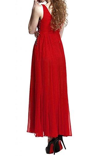 Sunvary moderna Spaghetti, con fascia in Chiffon Prom Gowns, Pageant Fuchsia