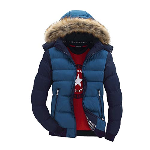 qkl Herren Baumwollmantel Winter Baumwolljacke Jugend lässige Mode Flut Männer Dicke Baumwolljacke abnehmbaren Hut