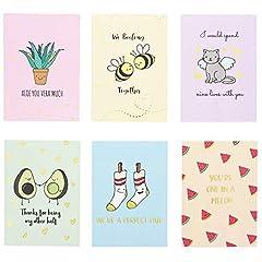 Idea Regalo - Pipilo Press - Biglietti di San Valentino con punte, 12,7 x 17,8 cm, confezione da 12