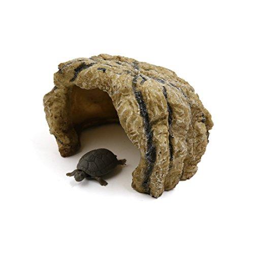 sourcingmap® Harzhöhle Reptilien Schildkröte Hideout Shelter Dekor Versteck für Terrarium