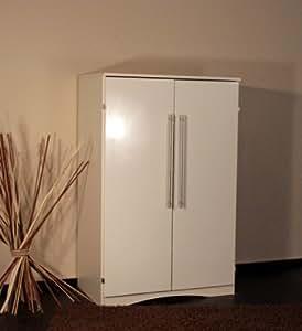 8055 2 pc schrank computerschrank im landhaus stil in hochglanz wei k che haushalt. Black Bedroom Furniture Sets. Home Design Ideas