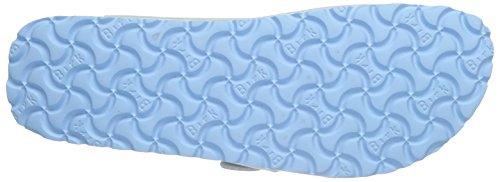 Birkenstock Arizona Birko-Flor Plateau, Sandales Plateforme femme Bleu - Blau (Graceful Babyblue)