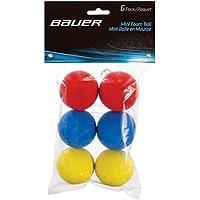 Bauer - Bolas de Espuma (6 Unidades), Color Rojo