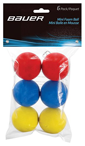 Bauer Mini Schaumstoffbälle (6 Stück) rot