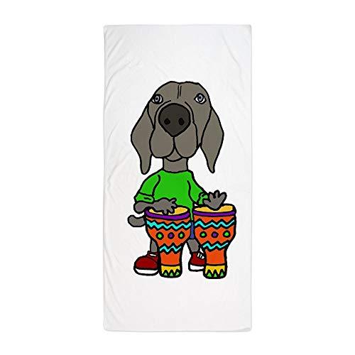 CafePress Süßes Weimaraner Spielende Bongo Drums Großes Strandtuch, weich, 76,2 x 152,4 cm Handtuch mit einzigartigem Design