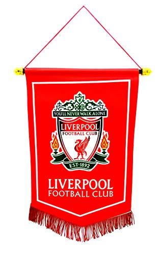 zxtzqw Fußball Club Fans FC Schal zum Aufhängen Einer Flagge Dreiecksflagge Tasche Glas Auto Aufkleber Telefonkette, Hang up a Flag-Liverpool -