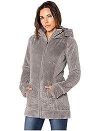 Sublevel Giacca da donna in pile peluche | Morbida giacca di pile a collo alto, disponibile nei colori grigio e nero