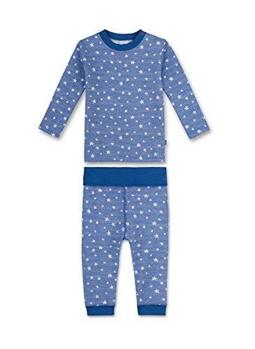 Sanetta Baby-Jungen Zweiteiliger Schlafanzug 221354 Blau (Saphir 5145), 92