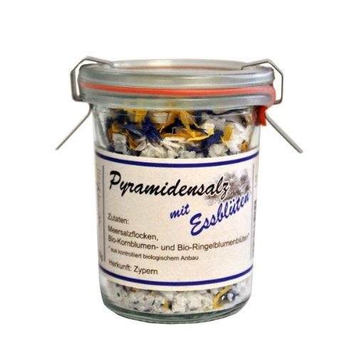 Preisvergleich Produktbild direct&friendly Pyramidensalz aus Zypern mit essbaren Bio-Blüten,  50g im Glas