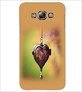 PrintDhaba Heart Pendant D-2458 Back Case Cover for SAMSUNG GALAXY A7 (Multi-Coloured)