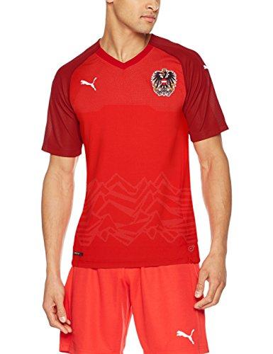 PUMA Herren Austria Home Replica Shirt, rot (Puma Red-Chili Pepper), L