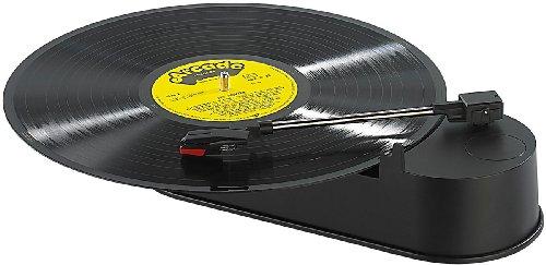 Q-Sonic Kompakter USB-Mini-Plattenspieler zum Digitalisieren von LPs