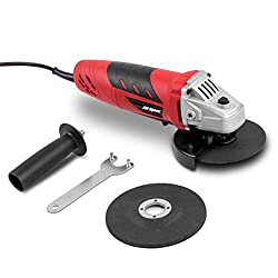 Hi-Spec 500W 115mm Angle Grinder with Safety Guard, Support Handle & 2 Piece Grinding Cutting Discs. Suitable for Metal, Masonry, Mortar, Brick and Stone Cutting, Smoothing and DIY Construction Work in the Garden, Workshop and Garage