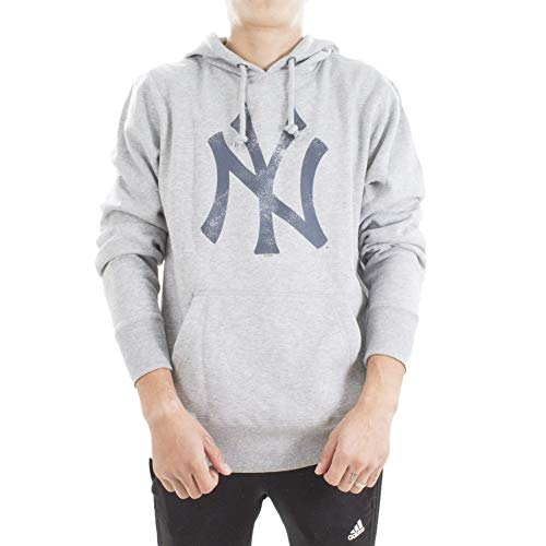 '47 Brand MLB New York Yankees Sudadera Capucha Hombre Gris M (Medium)