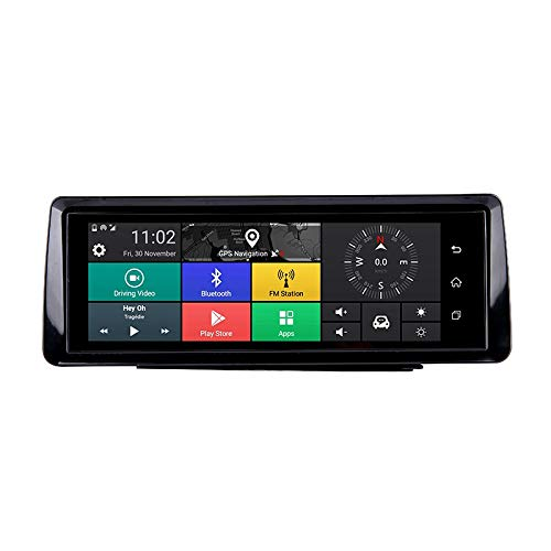 TOOGOO Faltbares Auto Dvr 10 Zoll Dash Cam Android 5.1 GPS Navigation Doppel Objektiv Kameras Auto Recorder Voll Hd 1080P Auto Dash Kamera für Chery Tiggo Sonata (3G) - Dash 3g