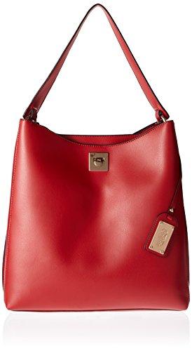 Buffalo Damen Bag 16bwg-23 Leather Pu Umhängetasche, 12 x 32 x 33 cm Rot (Red)