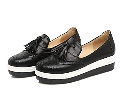 LDMB Casual College Round Toe bouche superficielle Chaussures plates Chaussures de printemps , black , 43 custom 2-4 days are not returned