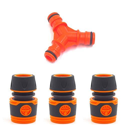Newin Star Form Y Kunststoff 3 Wasserschlauch für Garten, Schlauchanschluss, Joiner, Wassersplitter, mit 3 Stück, 6 Modi des Schlauchs