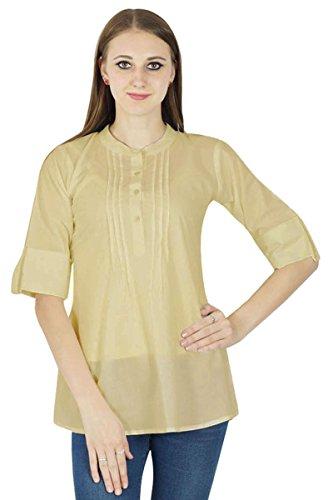 Boho Dress Top Wear Solide Casual Tunique Vêtements Pour Summer Beige