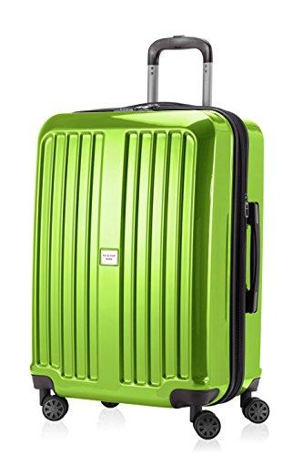 Hauptstadtkoffer valise ® xBERG-hK - 8280–serrure à combinaison tSA, comme un ensemble ou individuellement-vert pomme brillance design etiquette à bagages, Vert pomme (Vert) - HK8280-AG-90g