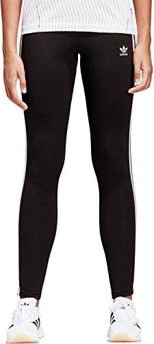 adidas Damen 3 Streifen Leggings, Black, 44 (Leggings Black Stripe)