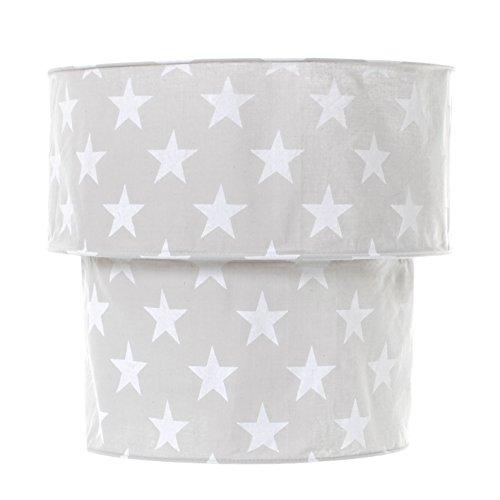 Gris Nordic étoile Hiérarchisé Abat-jour suspension Tissu de coton