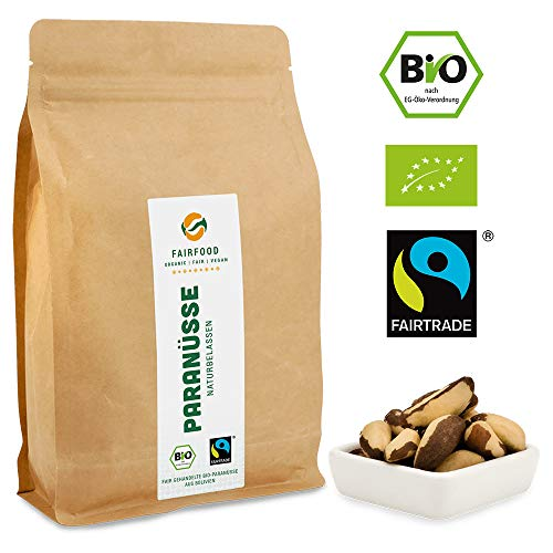 Bio Fairtrade Paranüsse: Naturbelassen (500g) aus Kooperative in Bolivien | Faire Rohkost aus...