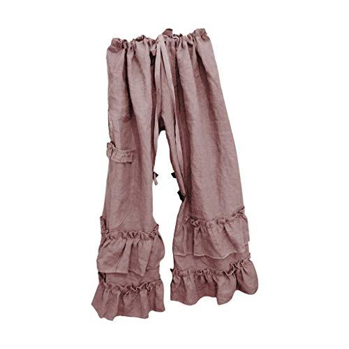 Momoxi Pantaloni da Yoga, Pantaloni Lunghi della Spiaggia dei Pantaloni Lunghi di Stampa A Vita Alta delle Donne Pantaloni FaciliPantaloni da Donna Smocked Waist Boho Spiaggia Harem Pants