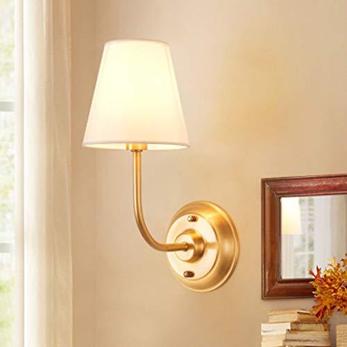 All-Copper American Wandleuchte, Indoor-Wohnzimmer Schlafzimmer Nachttischlampe, Korridor Gang Badezimmerspiegel Frontbeleuchtung Dekorative Lampe (Messing Antik Boden Leselampen)