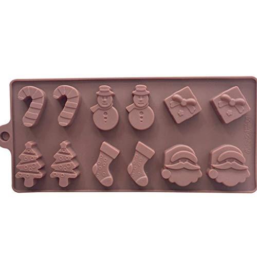 (Lazzboy Backen Dekorieren Silikon Fondantform Kuchen Schokolade (Braun))