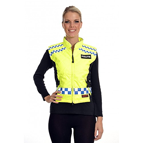 Equisafety Polite Quilted Polite Fitted Gilet - High Viz Yellow/Black, Large Jaune - Jaune fluo/noir