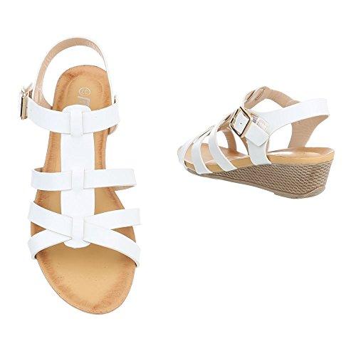 Ital-Design - Scarpe con plateau Donna Bianco