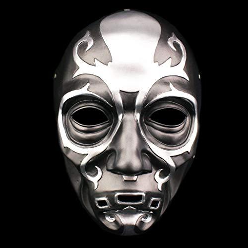 QWEASZER Todesser Maske - Harz Maske Charakter Prominente Maske, Halloween Kostüm Party Karneval Weihnachten Ostern Party - Todesser Maske Kostüm