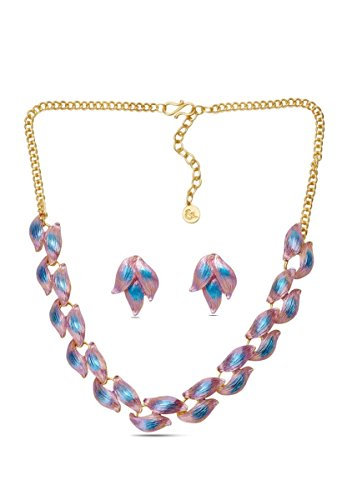 sempre-london-18ct-yellow-gold-two-tone-plated-elegant-designer-necklace-with-designer-earrings-in-c