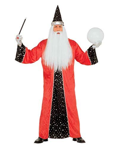 Zauberer Kostüm Rot M (Wahrsager Kostüm)