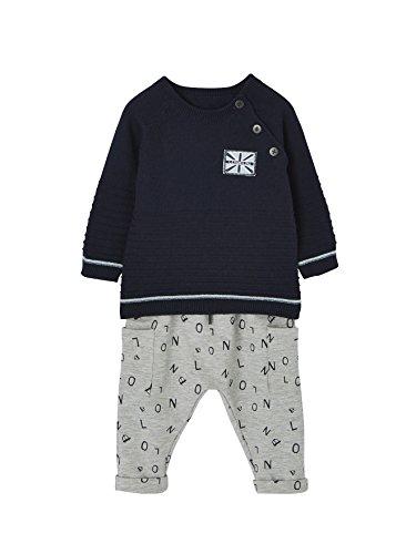 VERTBAUDET Ensemble bébé garçon pull maille et pantalon molleton  Marine gris chiné 12M - 74CM 730a65edd21