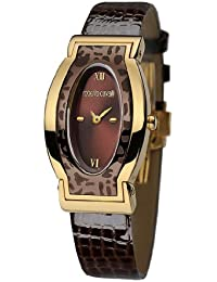 72a02be4c26f1 Roberto Cavalli Ladies Diana Analogue Watch R7251118555 with Quartz  Movement, Leather Bracelet and Brown Dial