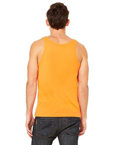 Bella Herren Asymmetrischer Top Grau Grau Orange - orange