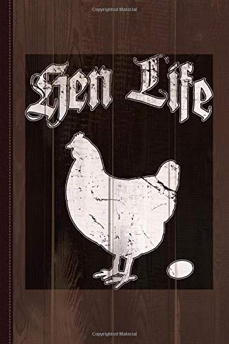 Hen Life Chicken Farmer Journal Notebook: Blank Lined Ruled For Writing 6x9 120 Pages por Flippin Sweet Books
