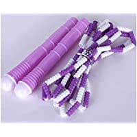 LridSu 1Pc Bamboo Skipping Rope Practice Juego de Deportes Jump Ropes para Cardio Exercise (Color : Purple, tamaño : Length2.8m)