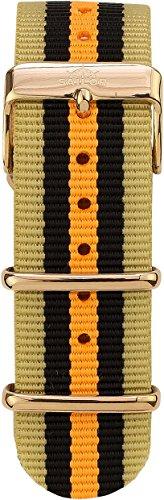 Sailor Damen Herren Nylon Armband Shelf braun-schwarz-organe BSL101-2007-20, Breite Armband:20mm (no